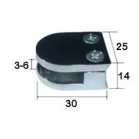 Стеклодержатель комбинированный (коннектор малый) для d 25мм