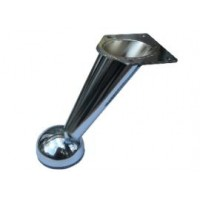 Ножка мебельная нерегулируемая изогнутая Н-125мм (хром)