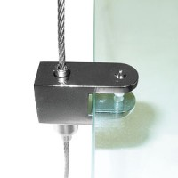 Полкодержатель (устан-ка без сверл. стекла, цанговый зажим, d троса - 2мм)