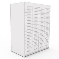 Рецептурный шкаф для аптеки Метабокс, с обшивкой