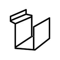 Полка для книг, акрил