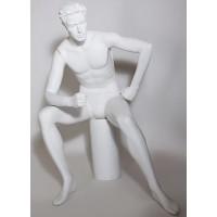 Манекен мужской скульптурный, сидячий, Высота манекена: 122 см