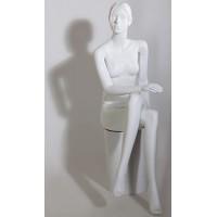 Манекен женский скульптурный, сидячий,  Высота манекена: 132 см