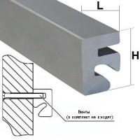 Алюминиевый профиль с пазом
