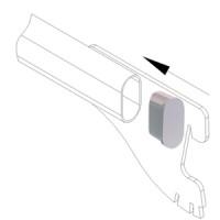 Заглушка для овальной трубы 30х15 мм (для GL38)