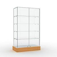 Витрина со стеклянным верхом Высота подиума 162 мм Задняя стенка зеркальная