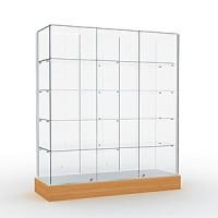 Витрина со стеклянным верхом Высота подиума 162 мм Задняя стенка стеклянная