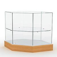 Прилавок со стеклянным верхом Высота подиума 162 мм