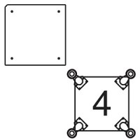 Платформа для дополнительных опор для витрин В-1, В-01, В-1С, В-01С (опоры приобретаются отдельно)