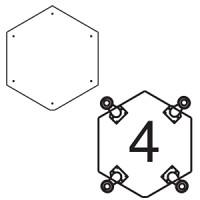 Платформа для дополнительных опор для витрин В-5, В-05 (опоры приобретаются отдельно)