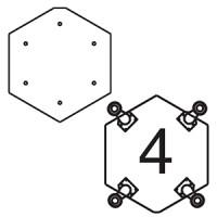 Платформа для дополнительных опор для витрин В-7, В-07, В-8, В-08 (опоры приобретаются отдельно)