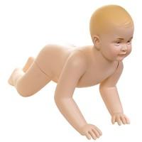 Манекен детский, скульптурный (с макияжем). 6-12 месяцев.