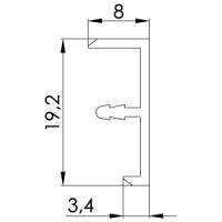 Профиль окантовочный для панелей толщиной 16 мм