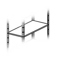 Полка для стеллажей ST07. Комплектуется крепёжными болтами и гайками (уголками не комплектуется)