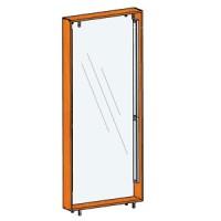 Подсветка задней стенки для витрин стоящих спина к спине FIN.V.60.H.MGL.00 с задней стенкой из оргстекла