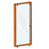 Подсветка задней стенки для витрин стоящих спина к спине FIN.V.100.H.MGL.00 с задней стенкой из оргстекла