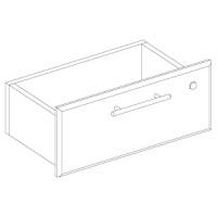 Ящик верхний с замком, одиночный для прилавков GSS.004. Материал МДФ окрашенный