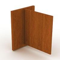 Боковина прилавка, правая с распашной дверкой. Толщина боковины 50 мм. Высота дверки 930 мм