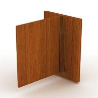 Боковина прилавка, левая с распашной дверкой. Толщина боковины 50 мм. Высота дверки 930 мм