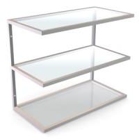Полки навесные. Полка прозрачное стекло  Материал нержавеющая сталь