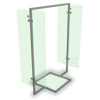 Вешало. Материал нержавеющая сталь  Основание и боковина прозрачное стекло