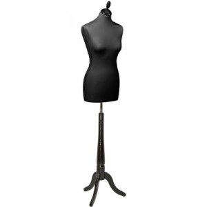 Манекен женский Цвет ноги: черный Высота торса: 75 см Материал торса - пенопласт (пенополистирол) Пр-во Италия