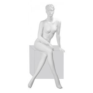 Манекен женский, скульптурный, сидячий. Высота137 см