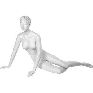 Манекен женский, скульптурный, лежачий. Высота89 см