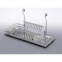Полка рейлинга посудосуш. L=500мм  поддон пласт.