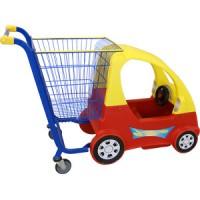 Тележка-автомобильчик Объем 85л, (Ремень безопасности, звуковой сигнал, вращающийся руль, пять колес)