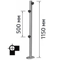 Столбик для проезда тележек двухсторонний, правый (для крепления к полу используются болты OGT.148.00 (4шт.), в комплект не входят)