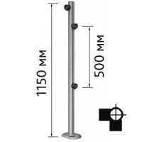 Столбик для проезда тележек двухсторонний, левый  Кол-во муфт: 3 шт