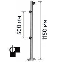 Столбик для проезда тележек двухсторонний, правый Кол-во муфт: 3 шт