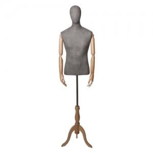 Каталог торгового оборудования - Торс-Манекен с деревянными руками, мужской - Originals 01