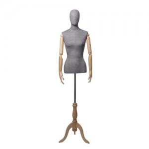 Торс-Манекен с деревянными руками, женский