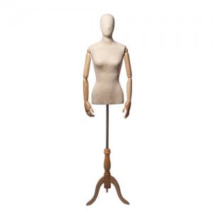 Торс-Манекен с деревянными руками, женский, Высота торса (со спины) 85 см