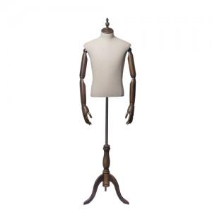 Каталог торгового оборудования - Торс-Манекен с деревянными руками, мужской - Originals 03