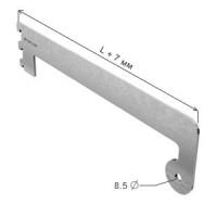 Полкодержатель с держателем трубы d=25 мм концевой